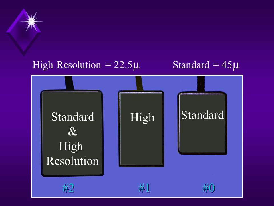 Standard Standard High & High Resolution #2 #1 #0