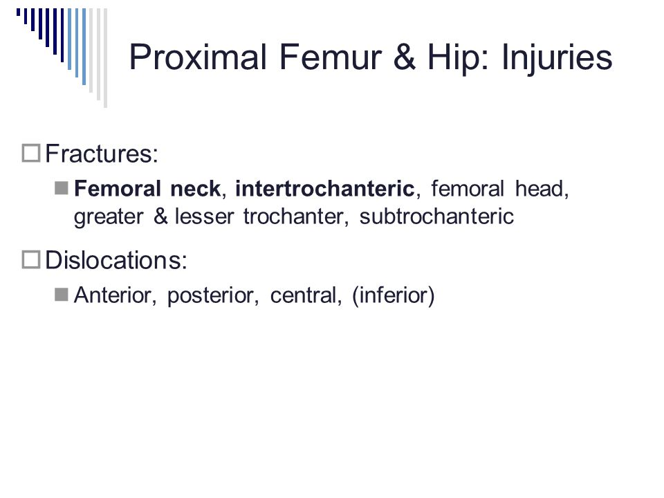 Proximal Femur & Hip: Injuries