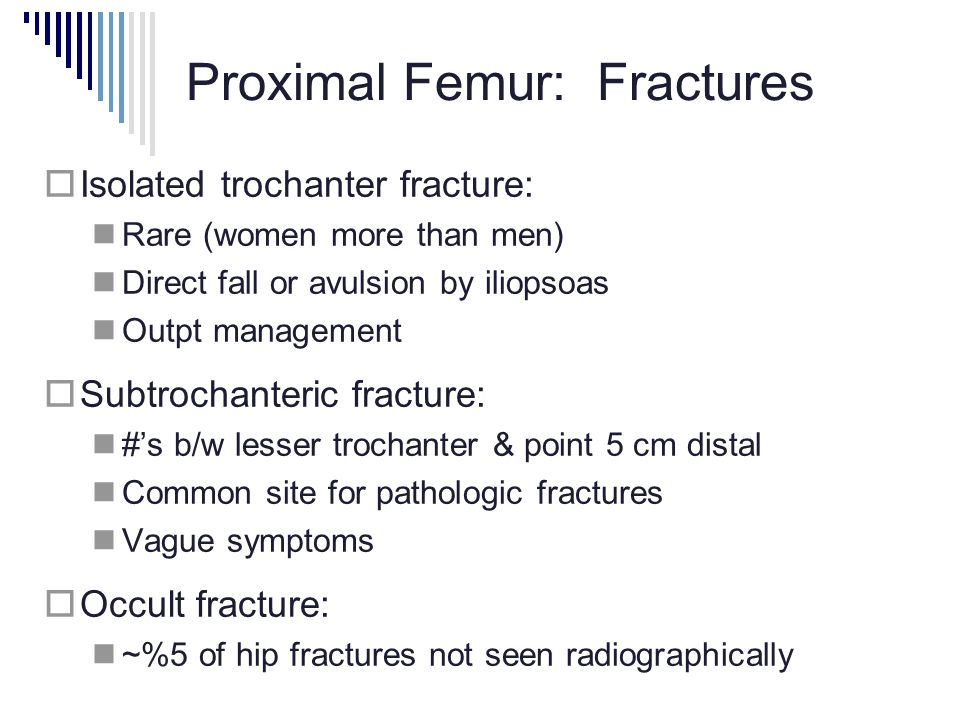 Proximal Femur: Fractures