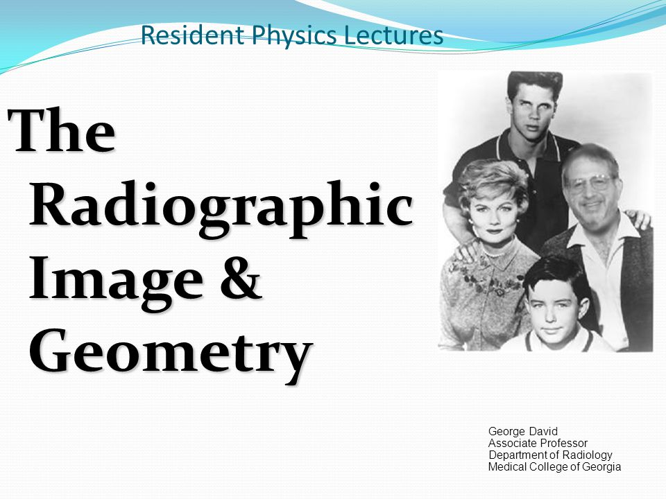 Resident Physics Lectures