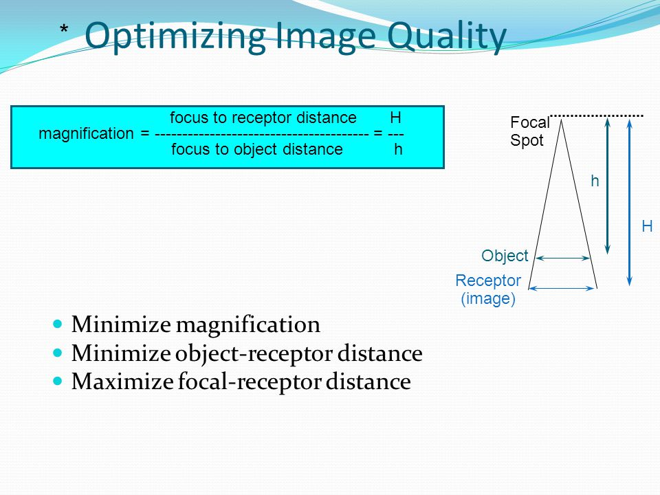 Optimizing Image Quality