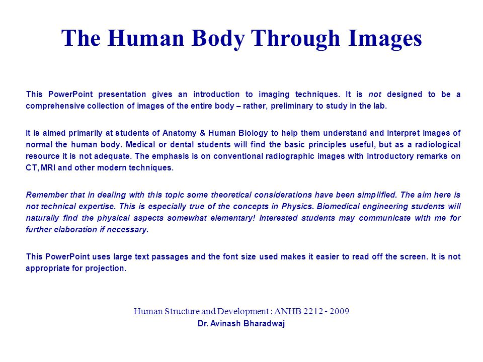 The Human Body Through Images