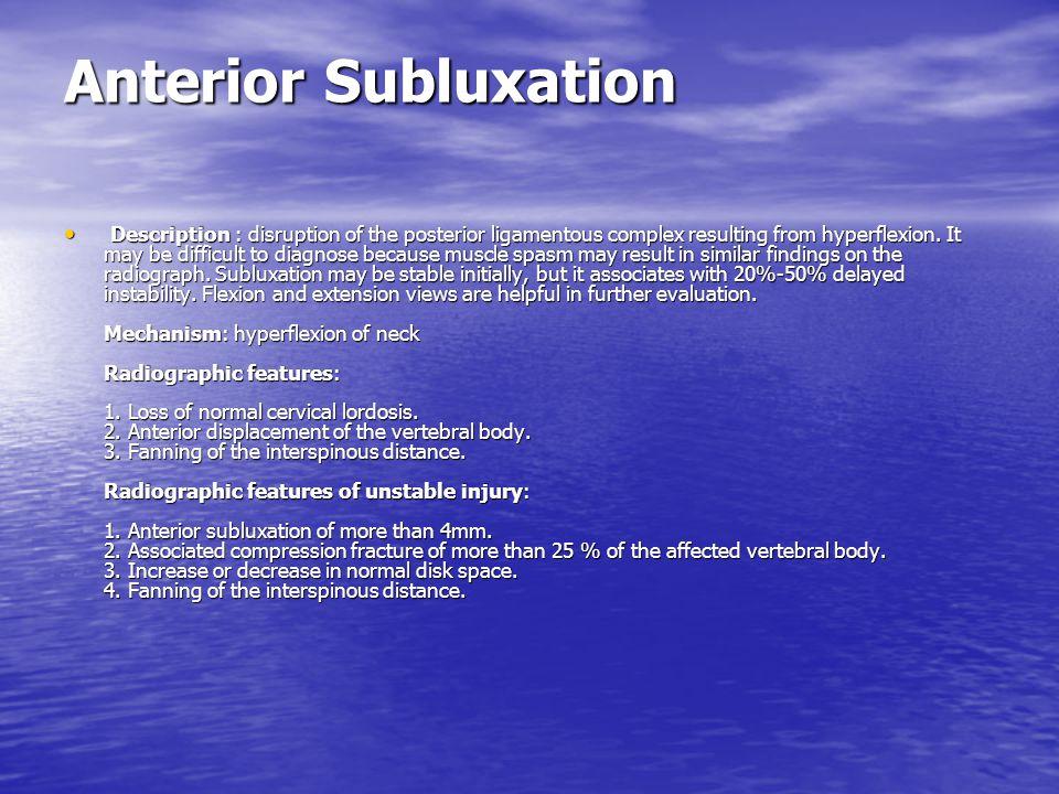 Anterior Subluxation