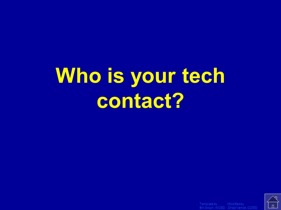 Who is your tech contact