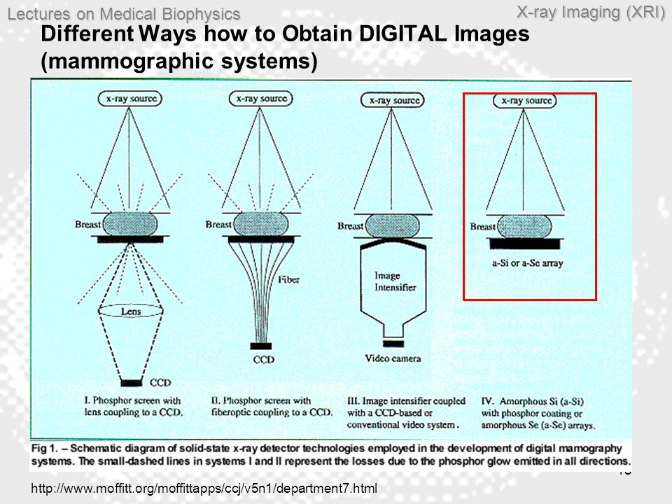 Different Ways how to Obtain DIGITAL Images (mammographic systems)