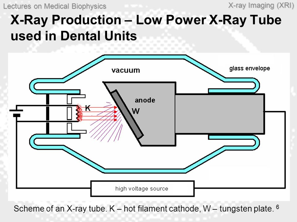 X-Ray Production – Low Power X-Ray Tube used in Dental Units