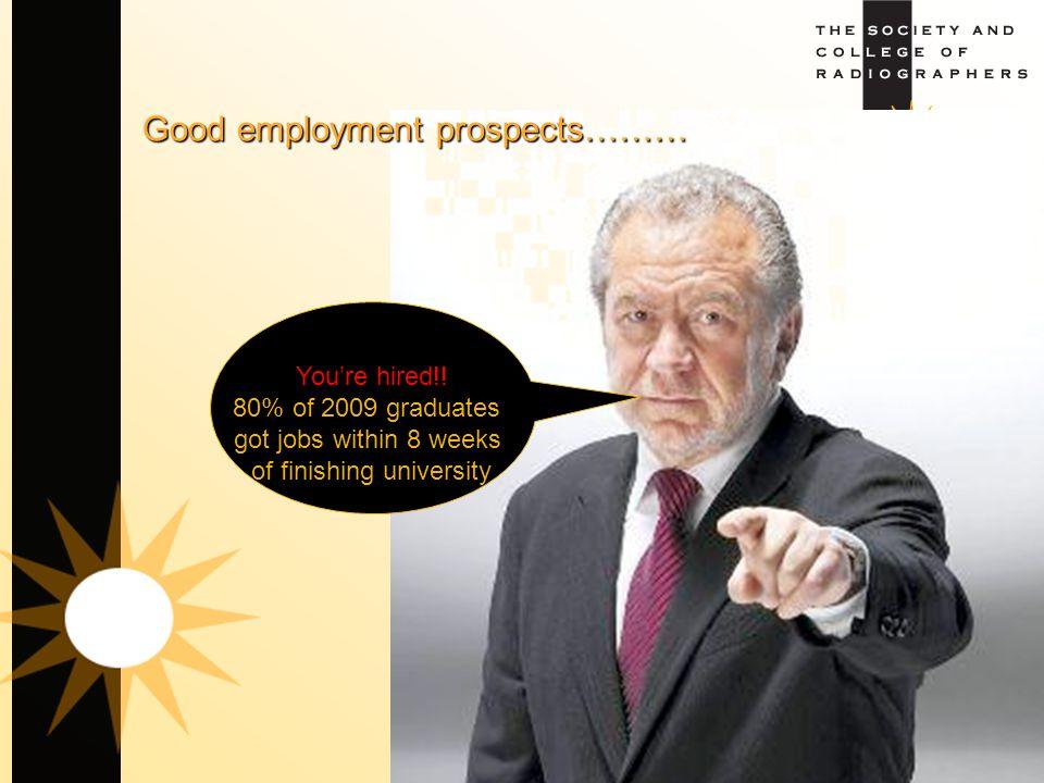 Good employment prospects………