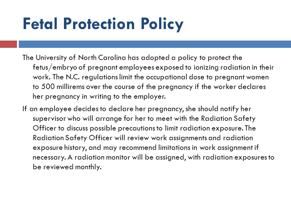 Fetal Protection Policy