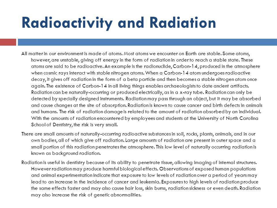 Radioactivity and Radiation