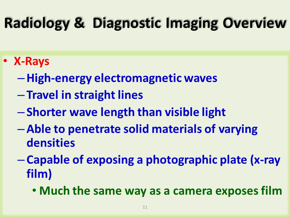 Radiology & Diagnostic Imaging Overview