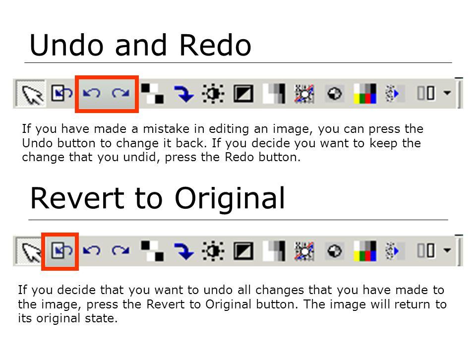 Undo and Redo Revert to Original