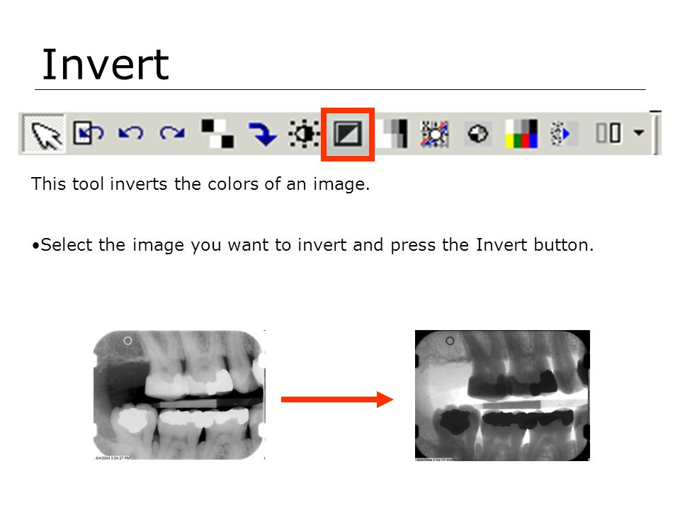 Invert This tool inverts the colors of an image.