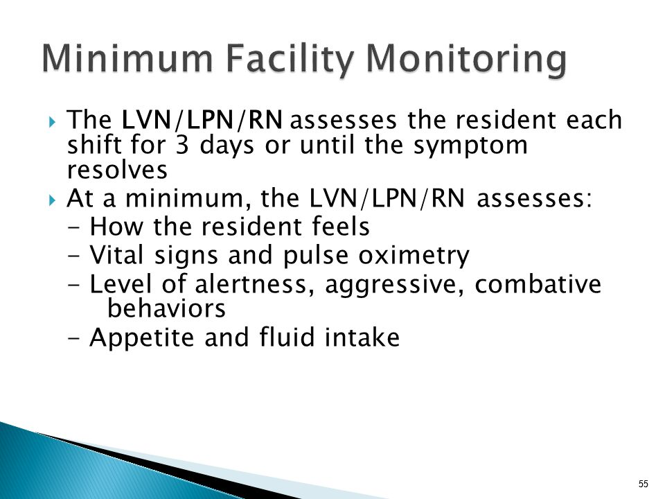 Minimum Facility Monitoring