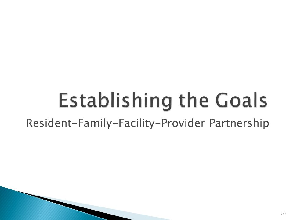 Establishing the Goals