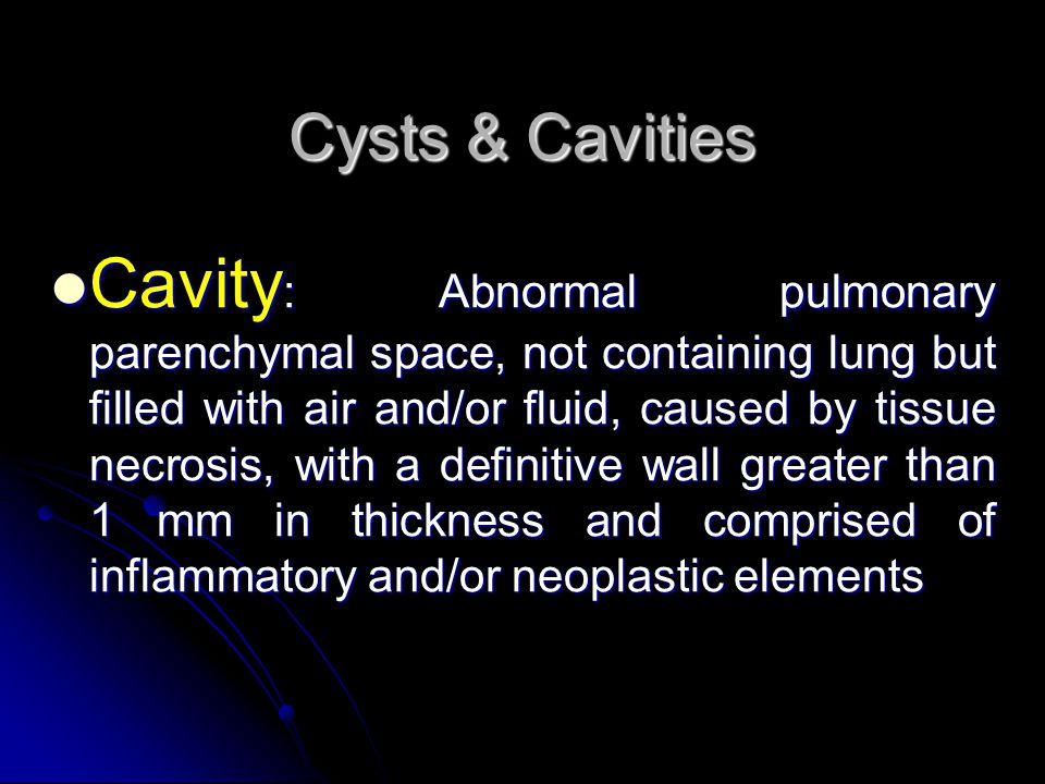 Cysts & Cavities