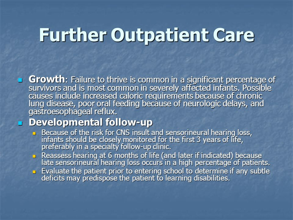 Further Outpatient Care