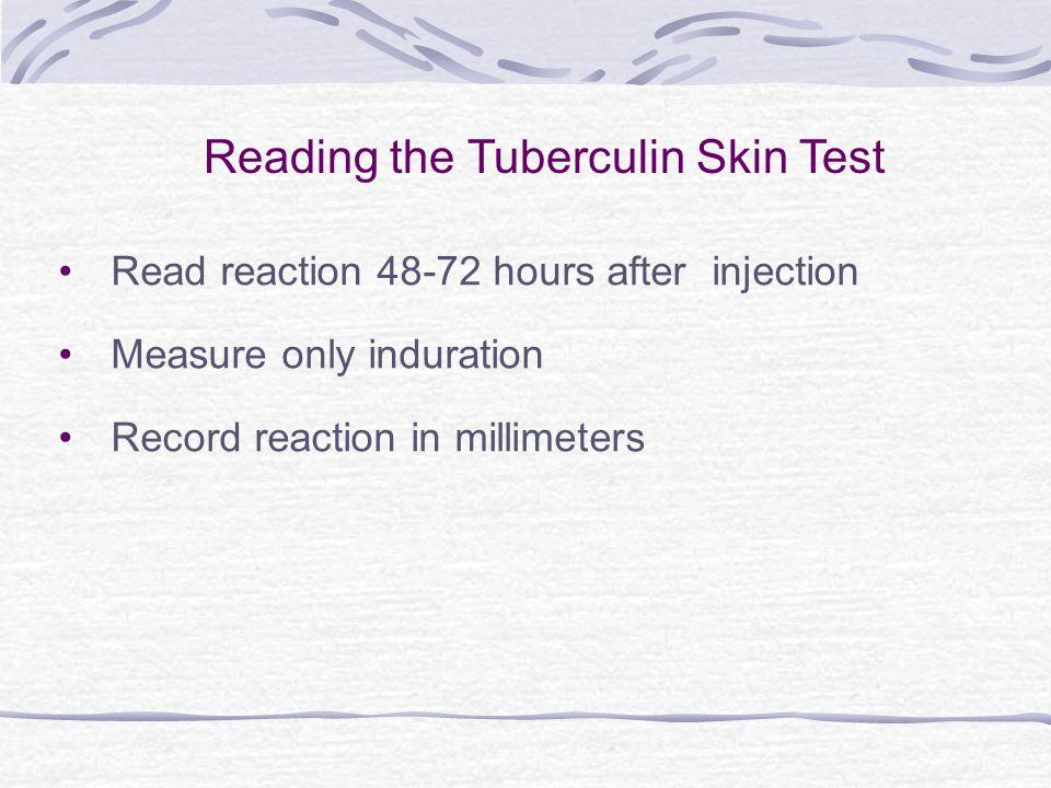 Reading the Tuberculin Skin Test