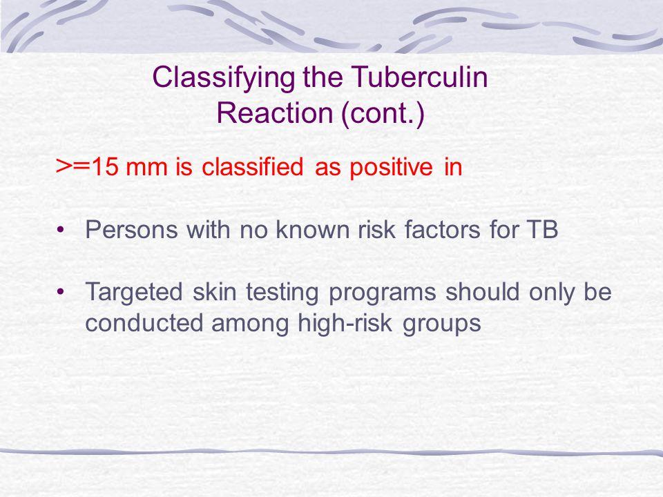 Classifying the Tuberculin