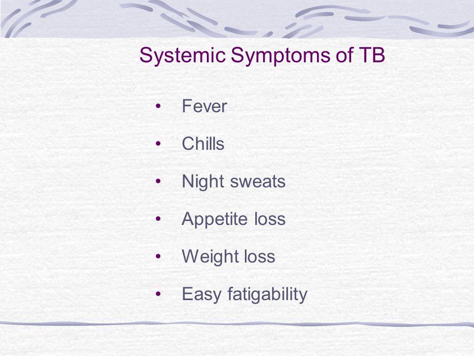 Systemic Symptoms of TB