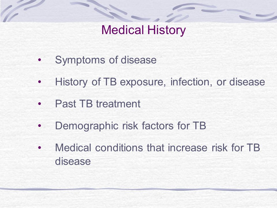 Medical History Symptoms of disease