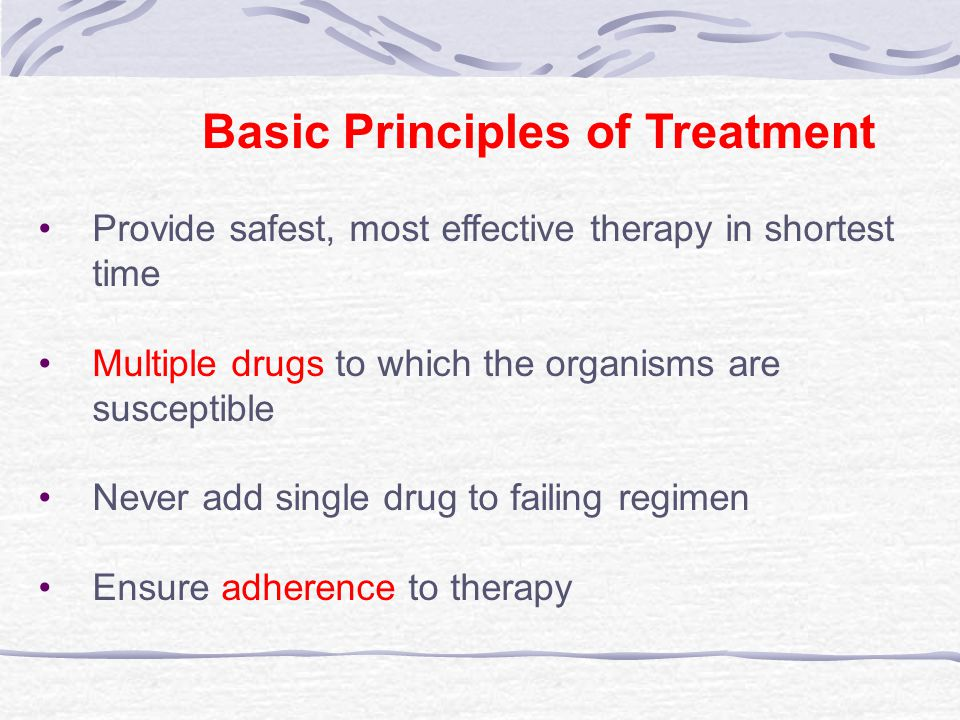 Basic Principles of Treatment