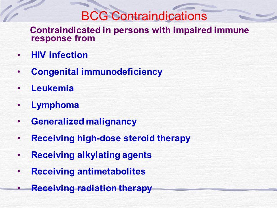 BCG Contraindications