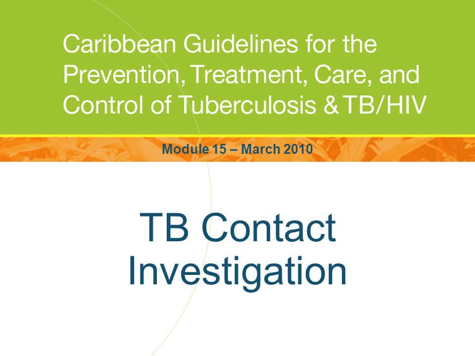 TB Contact Investigation