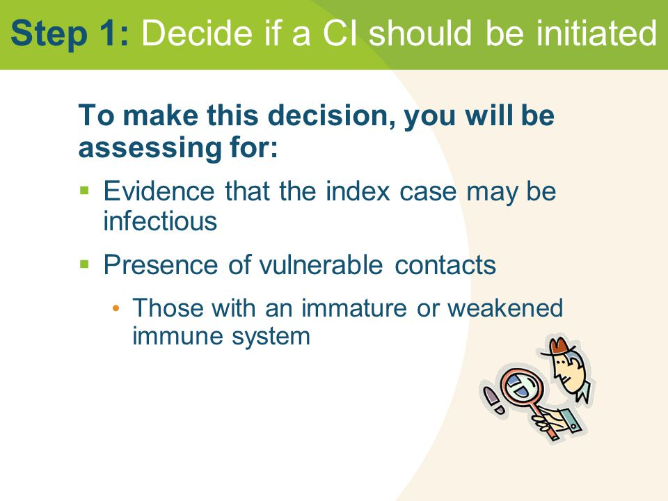 Step 1: Decide if a CI should be initiated