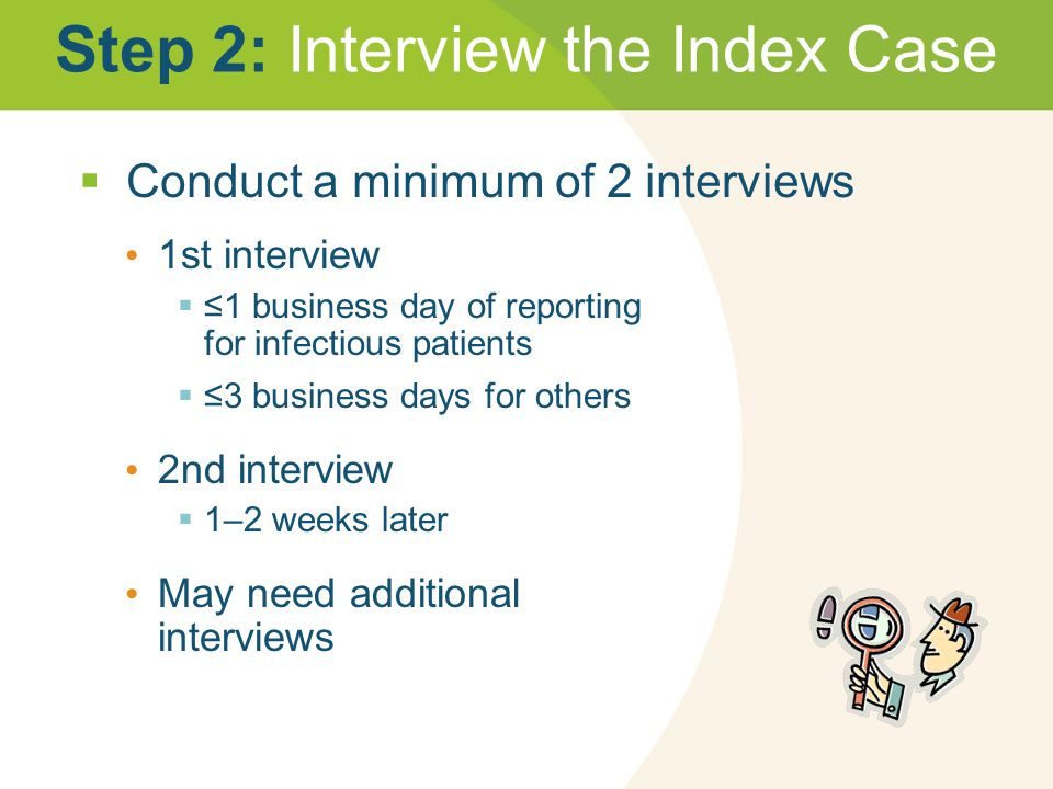 Step 2: Interview the Index Case