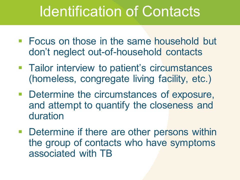 Identification of Contacts