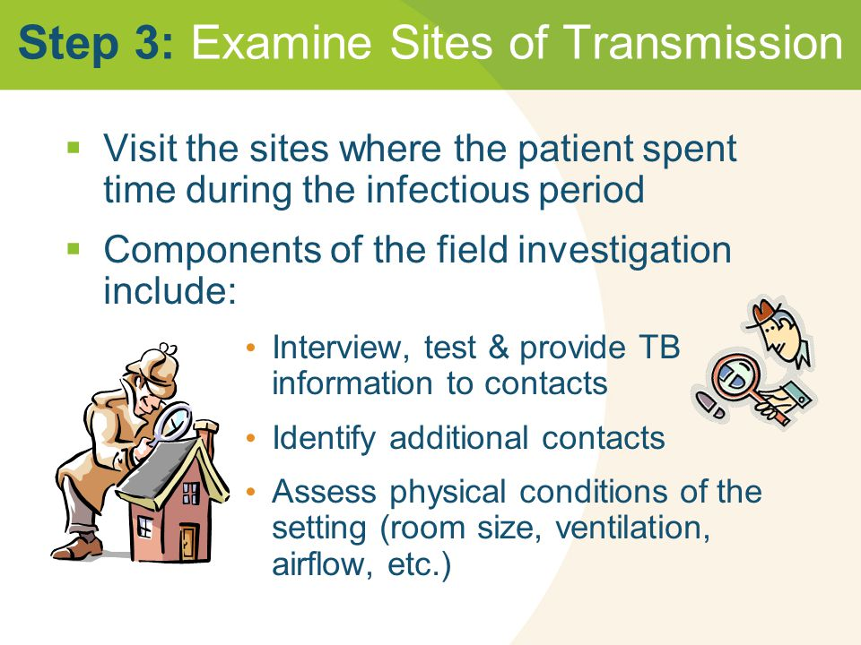 Step 3: Examine Sites of Transmission