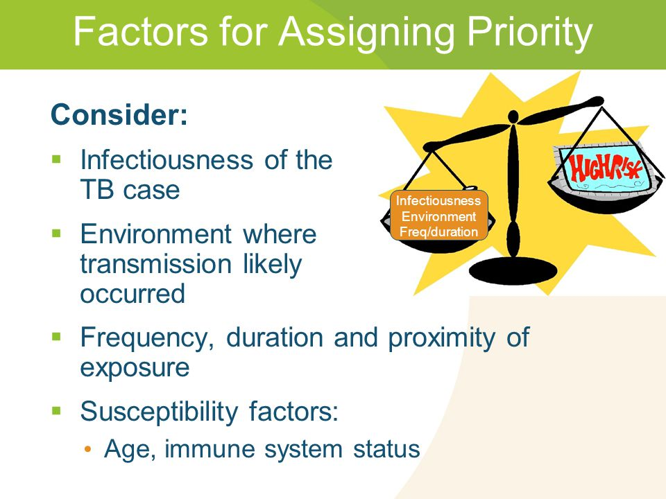 Factors for Assigning Priority
