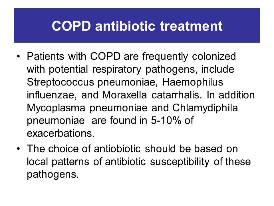 COPD antibiotic treatment