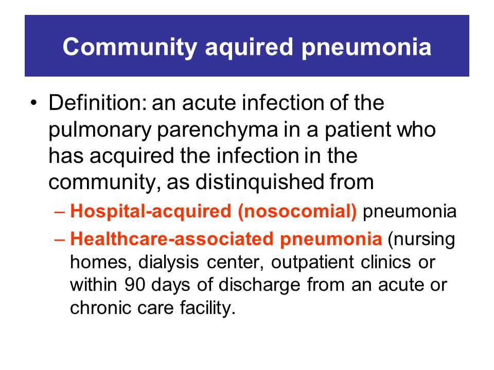 Community aquired pneumonia