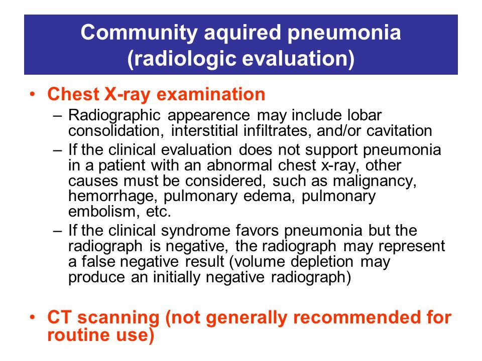 Community aquired pneumonia (radiologic evaluation)