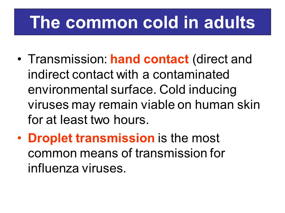 The common cold in adults