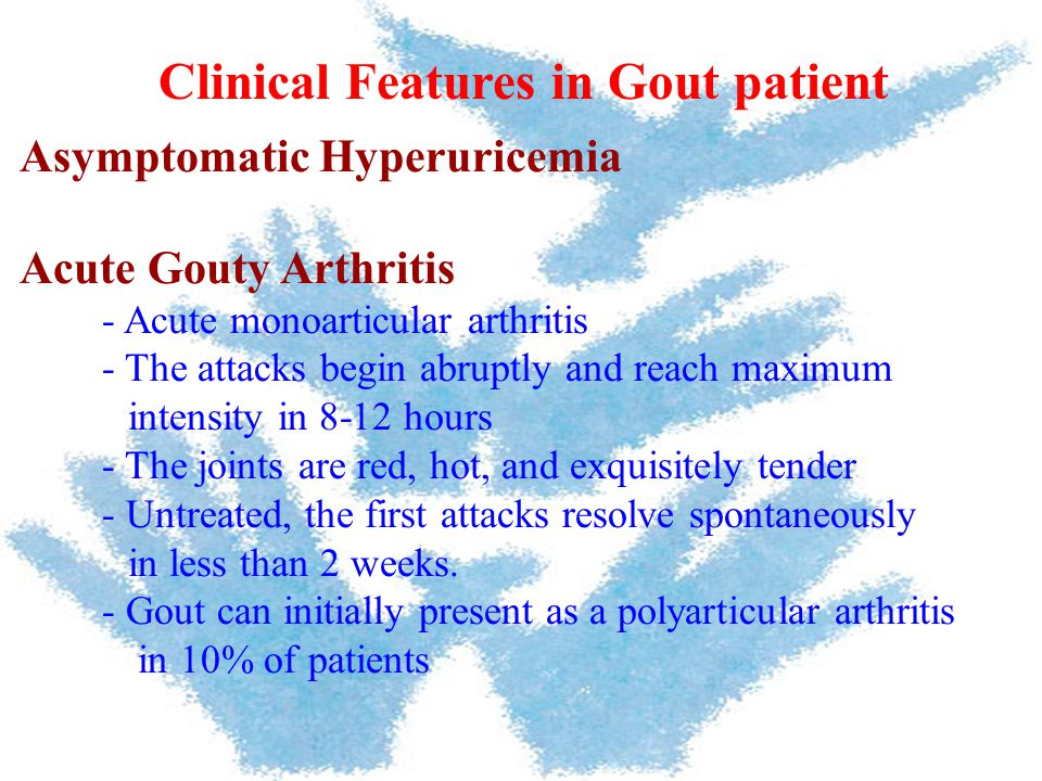 Clinical Features in Gout patient