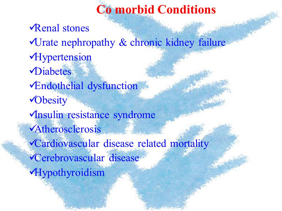 Co morbid Conditions Renal stones