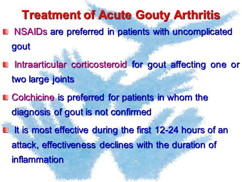 Treatment of Acute Gouty Arthritis