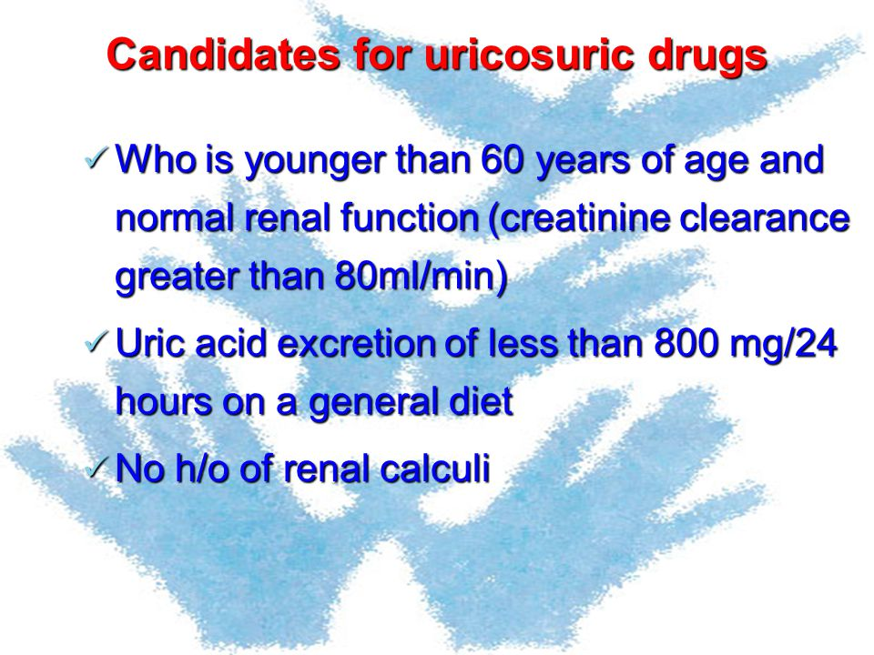 Candidates for uricosuric drugs
