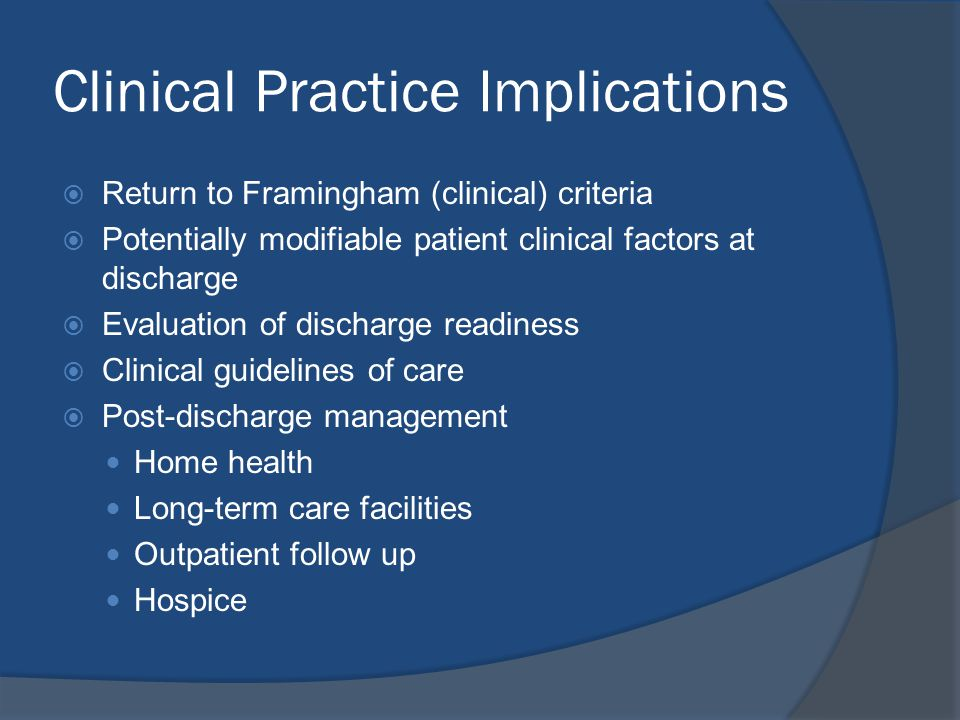 Clinical Practice Implications