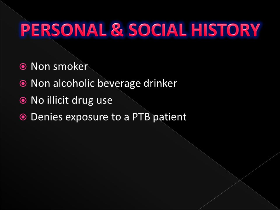 PERSONAL & SOCIAL HISTORY