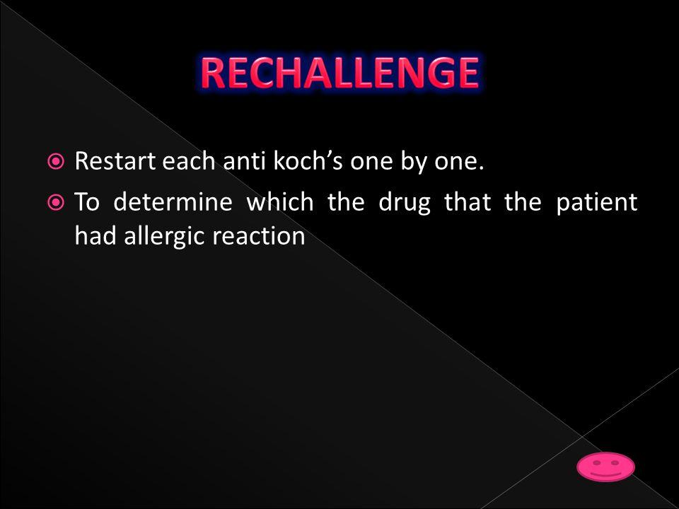 RECHALLENGE Restart each anti koch's one by one.