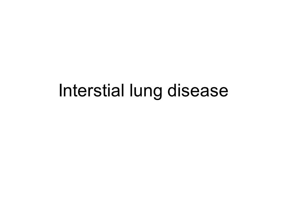 Interstial lung disease