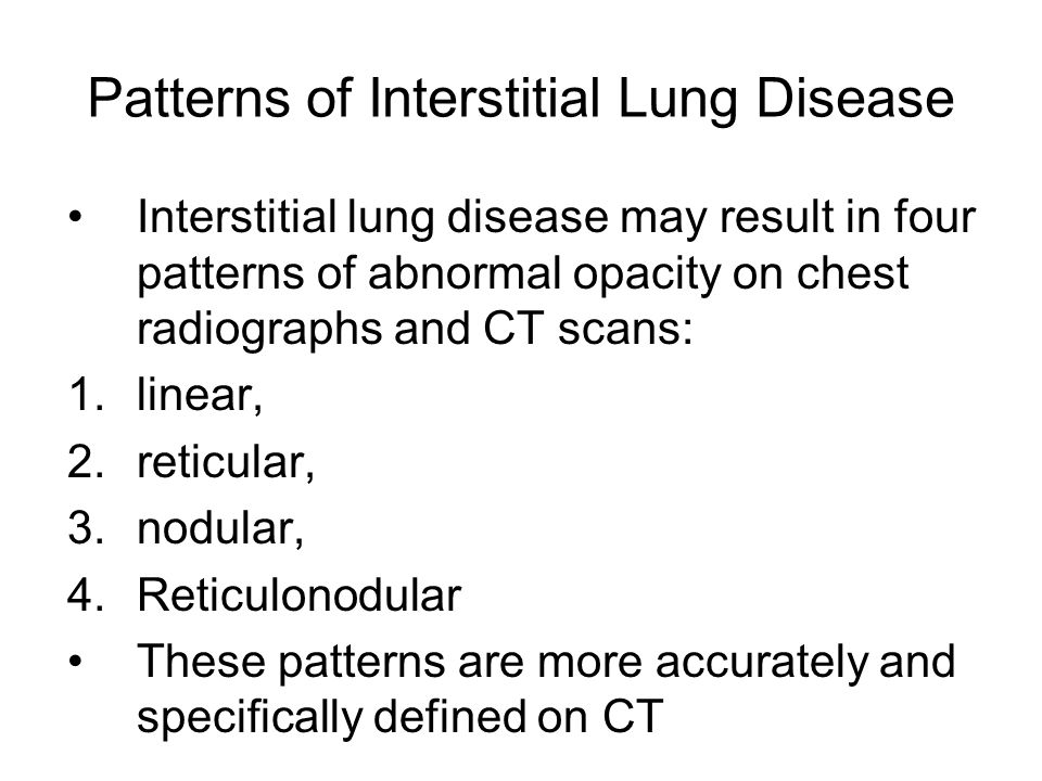 Patterns of Interstitial Lung Disease