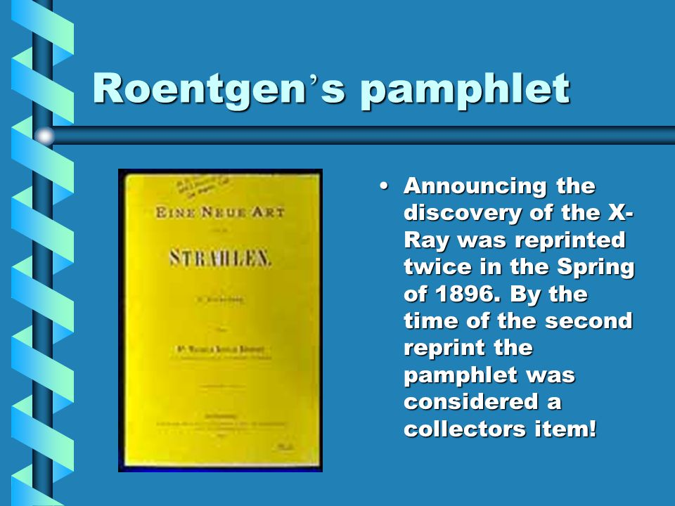 Roentgen's pamphlet