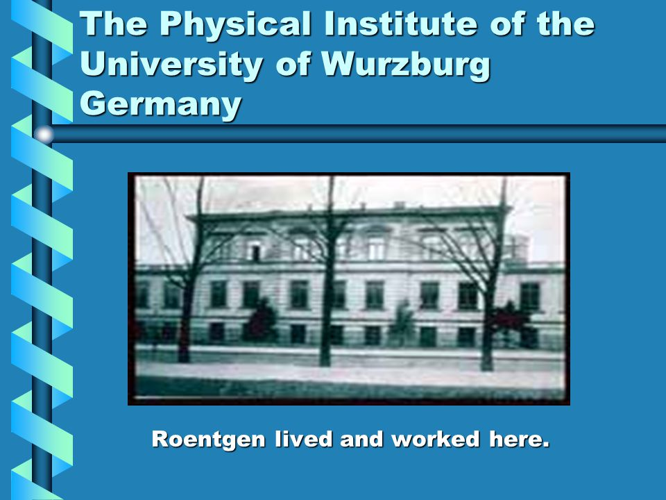 The Physical Institute of the University of Wurzburg Germany