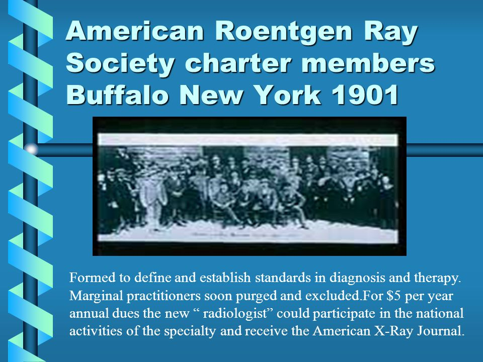 American Roentgen Ray Society charter members Buffalo New York 1901