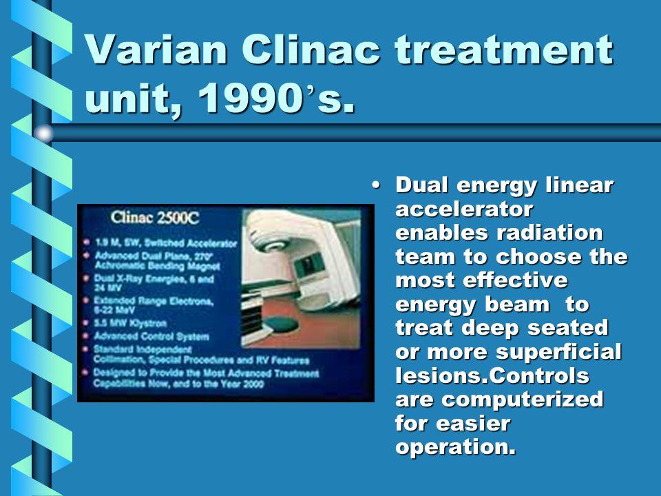 Varian Clinac treatment unit, 1990's.