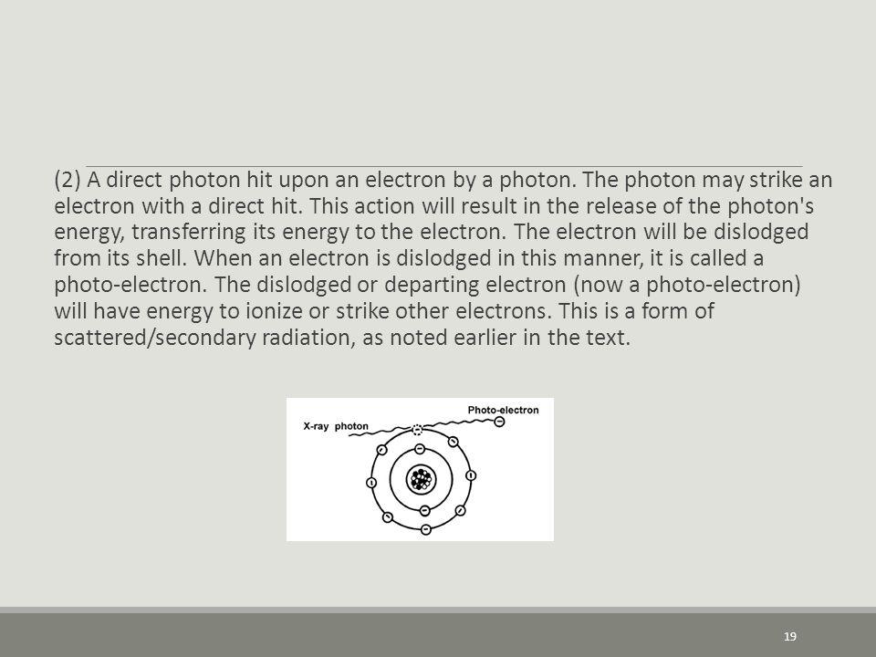 (2) A direct photon hit upon an electron by a photon